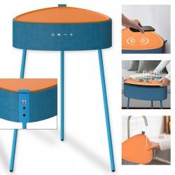 Drahtloser Lautsprecher Mesu im Tisch Design blau