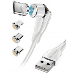 3in1 - Magnet Datenkabel 540Grad Drehbar, weiß