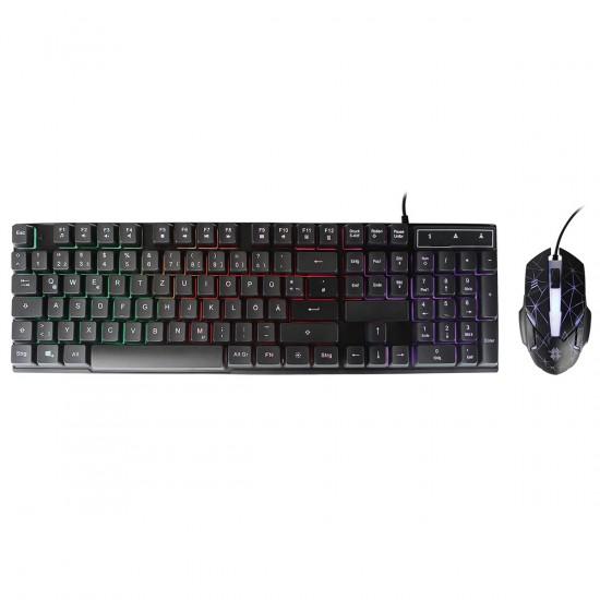 Gaming Tastatur & Maus Set, Terax, schwarz