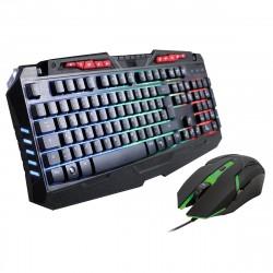 Gaming Tastatur & Maus Set, Sprex schwarz