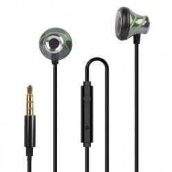 In-Ear Stereo-Headset V410 3.5mm anthrazit/grün