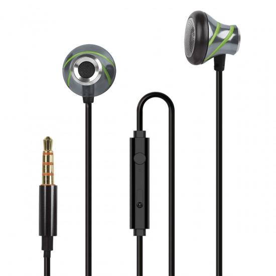 In-Ear Stereo-Headset V410 3.5mm in Anthrazit/Grün
