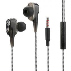 In-Ear Headset Duett, 2 hochauflösende Treiber in Schwarz/Weiß