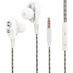 In-Ear Headset Duett, 2 hochauflösende Treiber in Weiß
