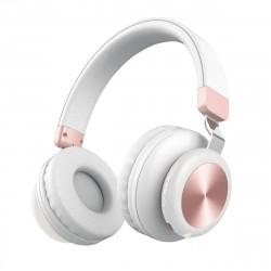 Drahtloser On-Ear Kopfhörer  -BaXx- Weiß/Rose