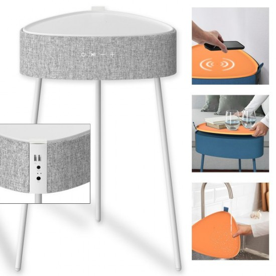 Tisch Lautsprecher Mesu in Grau