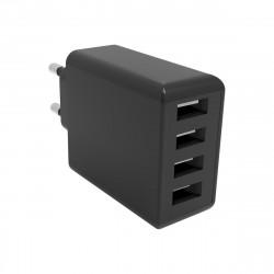 Netzteil Quad Plus 4x USB-A 4.8A / 24Watt in Schwarz