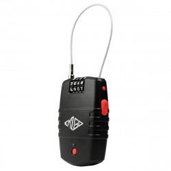 4 Stelliges Kombinations- Kabelschloss mit Alarm