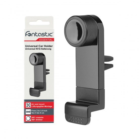 Essential Car holder airvent black for smartphones with 50 - 90mm width