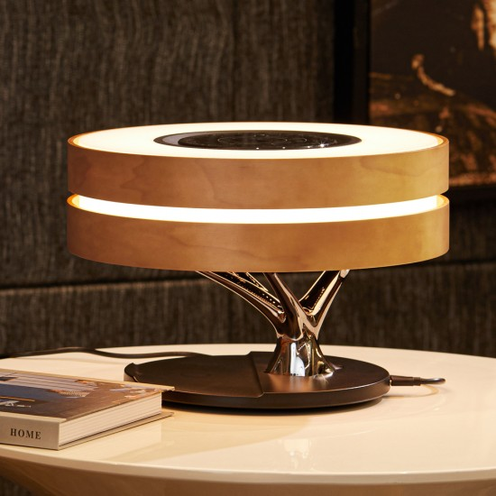 Fontastic Exclusive Multi-Function Lamp Icona TWS Speaker, Wireless Charger, Clock, Dimmable