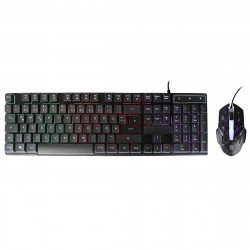 Wired Gaming Keyboard & Mouse Set, Terax black