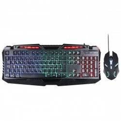 Wired Gaming Keyboard & Mouse Set, Sprex black