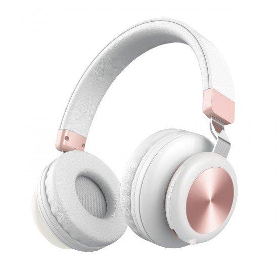 Drahtloser On-Ear Kopfhörer BaXx weiß/rose