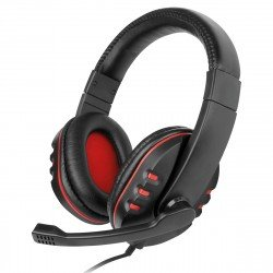 Gaming Headset NoXx, 2M Cable, black / red