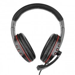Gaming Headset NoXx, 2M Kabel, schwarz / rot