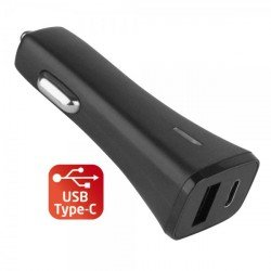 Car Charger Centa Type-C & USB black