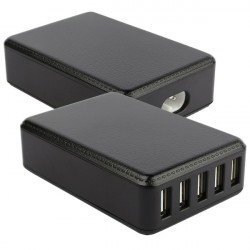 AC charger 5x USB 8A black