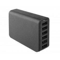 AC charger Zeta 6x USB 12A 60W black