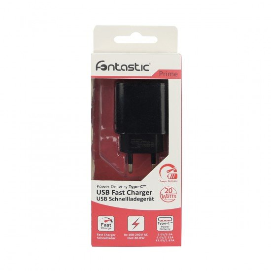 AC Charger Fort21 Type-C PD 20W black