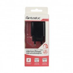 AC Charger Fort22 Type-C PD + USB-A FC3 20W black