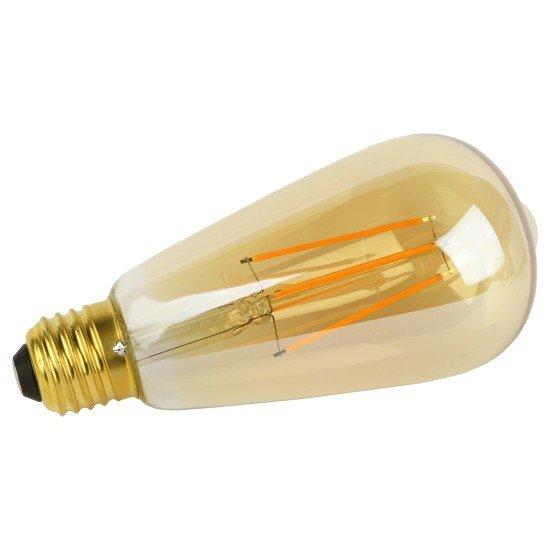 WLAN Filament-LED-Lampe 5W E27, Dimmbar Flamme komp. zu Android,iOS,Alexa,Google Assistant,IFTTT