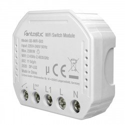 Wi-Fi Flush-Mount Switch for Lights and Sockets comp with Android,iOS,Alexa,Google Assistant