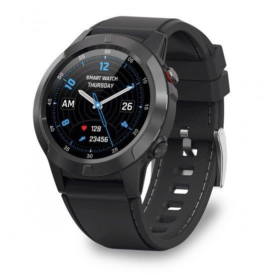 "GPS Smartwatch FontaFit 600CH Explor Sport-Modi sw Telefonfunktion, Spritzwasserschutz, 1,3"" Display"