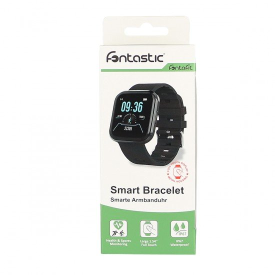 Smart Bracelet FontaFit 360CH Sena black Steps, Calories, Heart-Rate Monitor