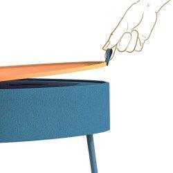 Wireless Speaker Mesu, Timeless Table Design blue
