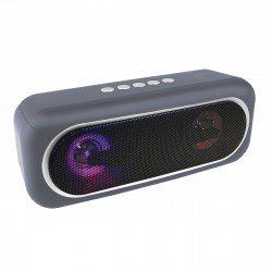 Wireless Loudspeaker Stereo Conga Grey with LED Light, TWS compatible, FM radio, AUX