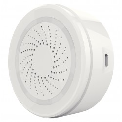 Wi-Fi Siren white 90db, 8 Sounds, Alarm LED comp with Android, iOS